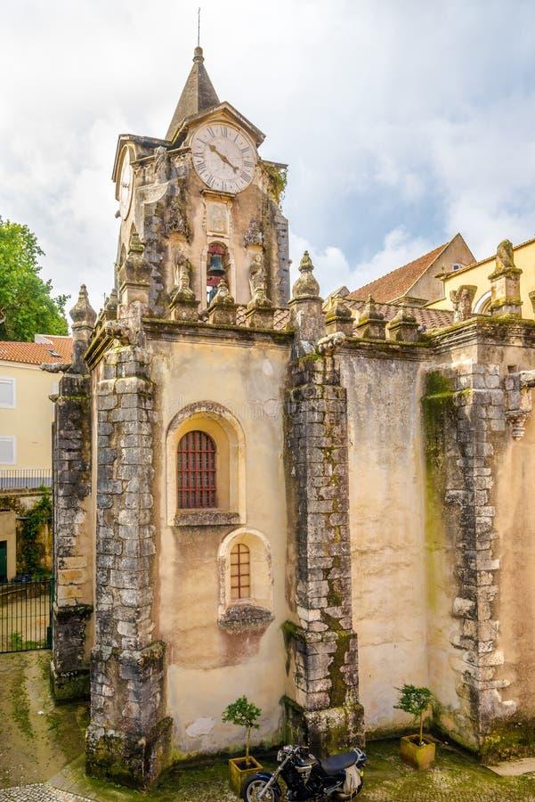 Kyrka av vår dam Populace i Caldas da Rainha, Portugal royaltyfria foton