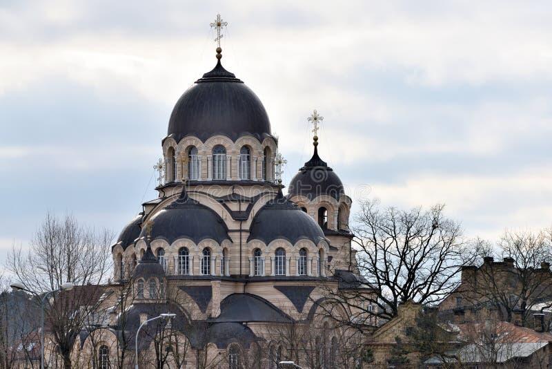 Kyrka av vår dam av tecknet, Vilnius arkivbilder