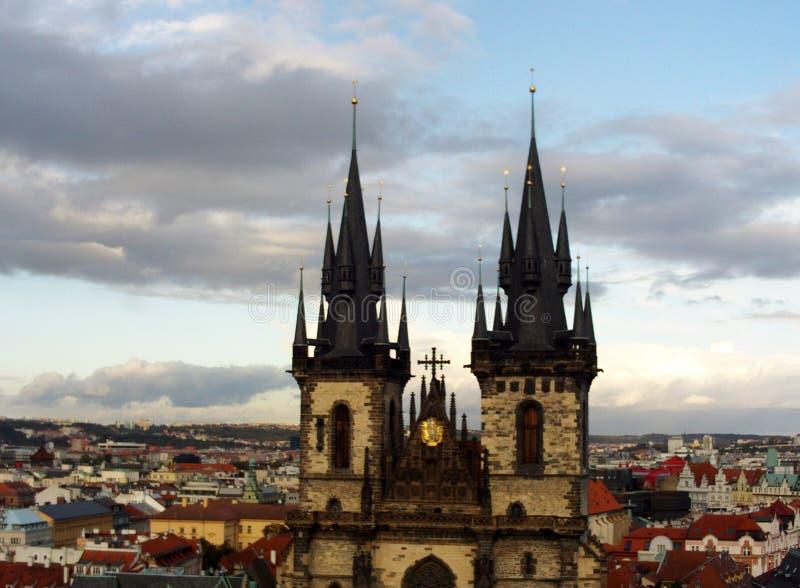 Kyrka av vår dam av Tyn, Prague arkivfoto