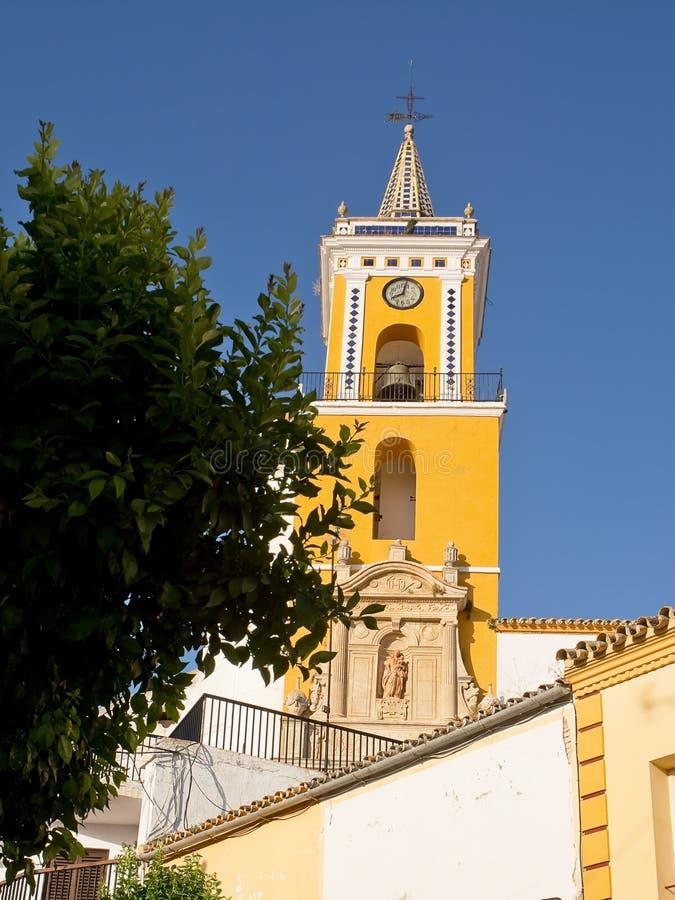 Kyrka av Villamartin royaltyfri bild