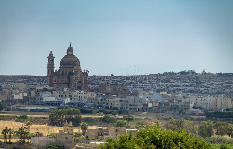 Kyrka av Xewkija också som är bekant som rotundan - Gozo, Malta royaltyfri bild