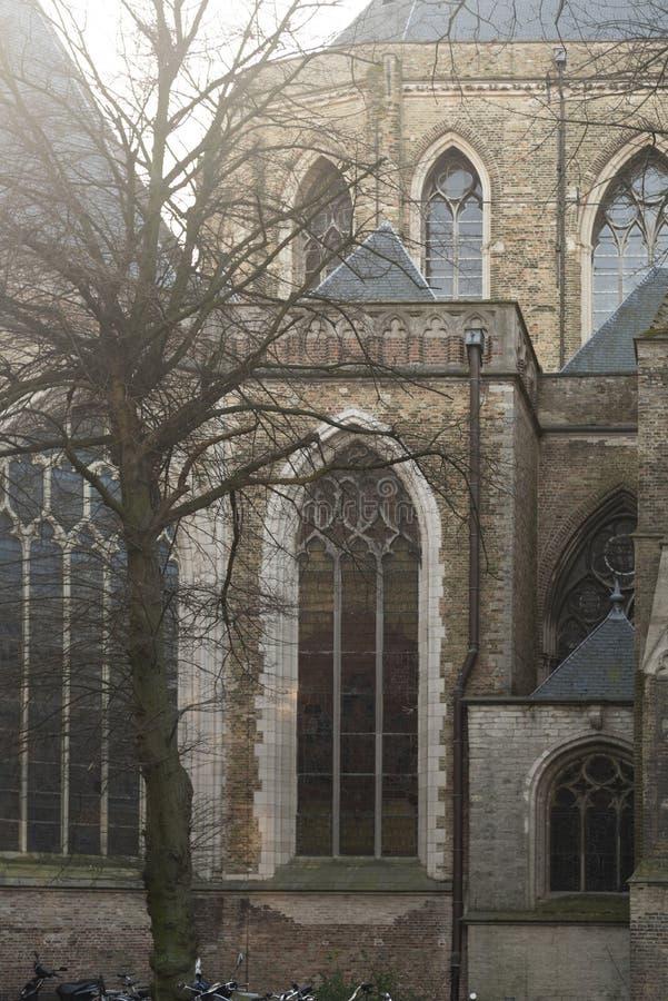 Kyrka Bruges arkivfoton