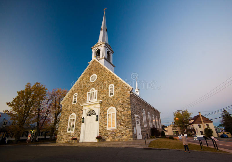 Kyrka - Chaudière-Appalaches region av Quebec royaltyfri fotografi