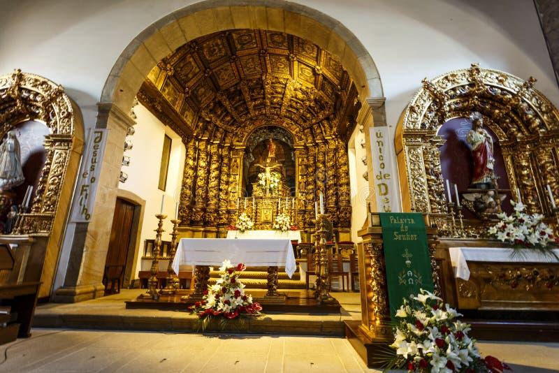 Kyrka för Figueira de Castelo Rodrigo —församling arkivbilder