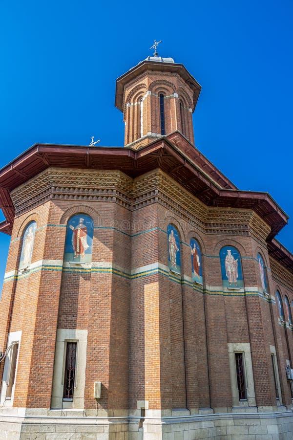Kyrka för helig Treenighet i Craiova, Rumänien arkivbild