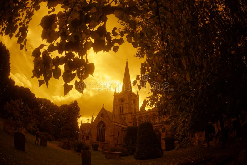 Kyrka för helig Treenighet Stratford arkivbild