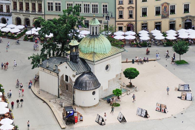 Kyrka för Krakow St Adalbert royaltyfri foto