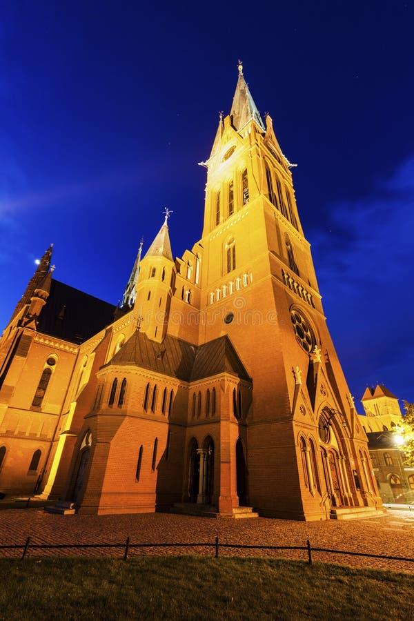 Kyrka för ` s för St Catherine i Torun arkivbild