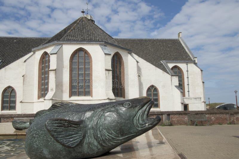 Kyrka för St Andreas i mitten arkivfoto