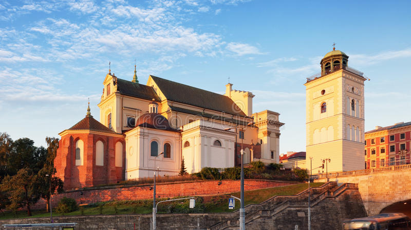 Kyrka för St Annes, Warszawa; Polen - - Kosciol strömbrytare Anny royaltyfri fotografi