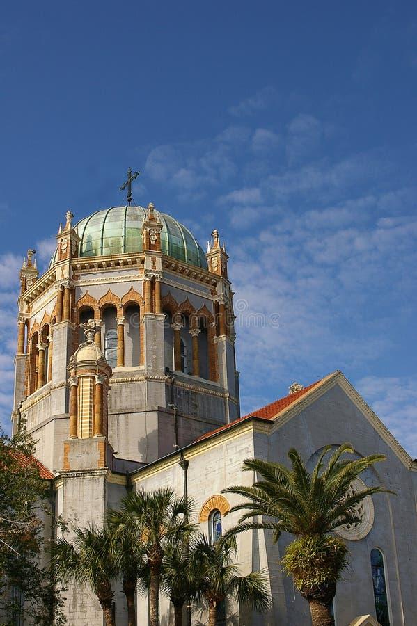 Kyrka för St Augustine Florida arkivfoto