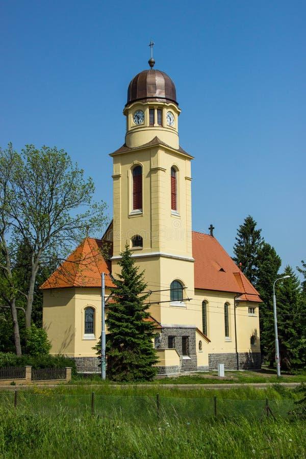 Kyrka för St Bartholomews - Liberec arkivbild