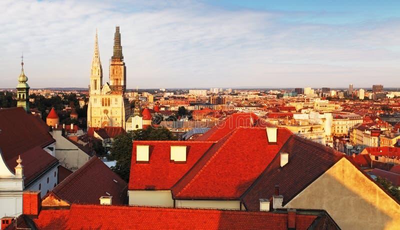 Kyrka för St Catherines, Zagreb, Kroatien royaltyfri bild