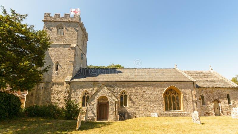 Kyrka för St Christopher ` s - mitt- sikt för södra fasad royaltyfria foton