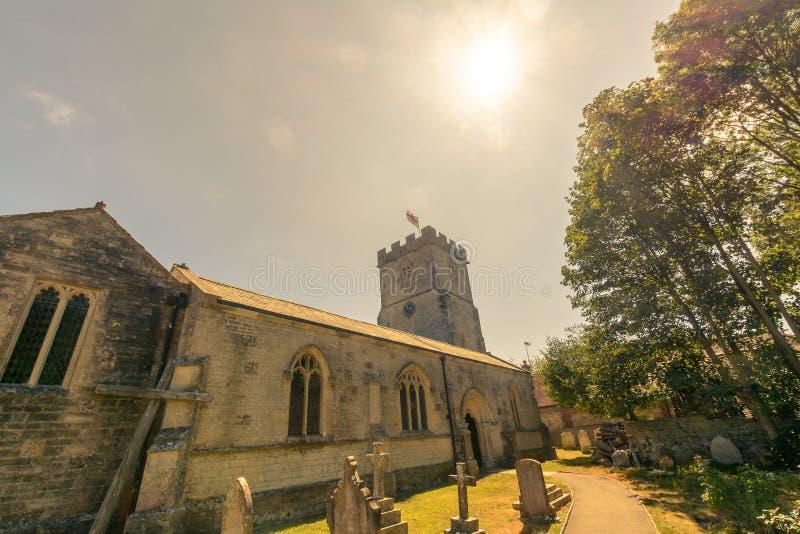 Kyrka för St Christopher ` s - mitt- vinkel royaltyfri foto