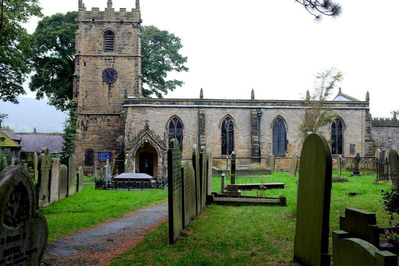 Kyrka för St Edmunds, Castleton royaltyfria foton