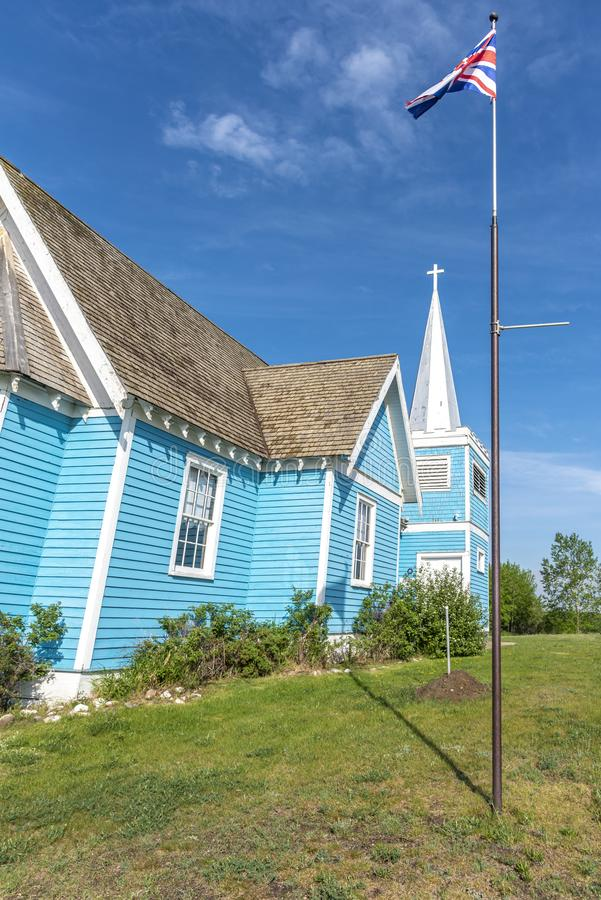 Kyrka för St Edmunds i den stora dalen, Alberta royaltyfria foton