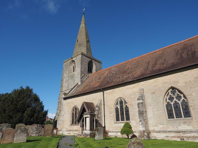 Kyrka för St Mary Magdalene i Tanworth i Arden arkivbilder