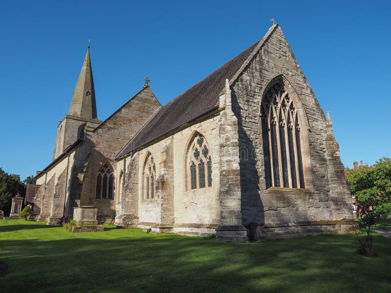 Kyrka för St Mary Magdalene i Tanworth i Arden royaltyfria bilder