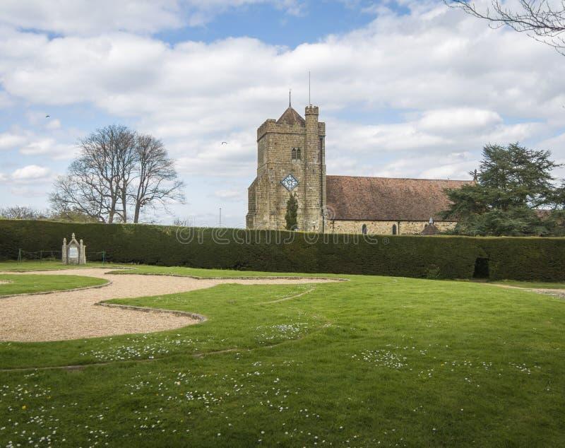 Kyrka för St Mary ` s, strid, Sussex, UK royaltyfria bilder