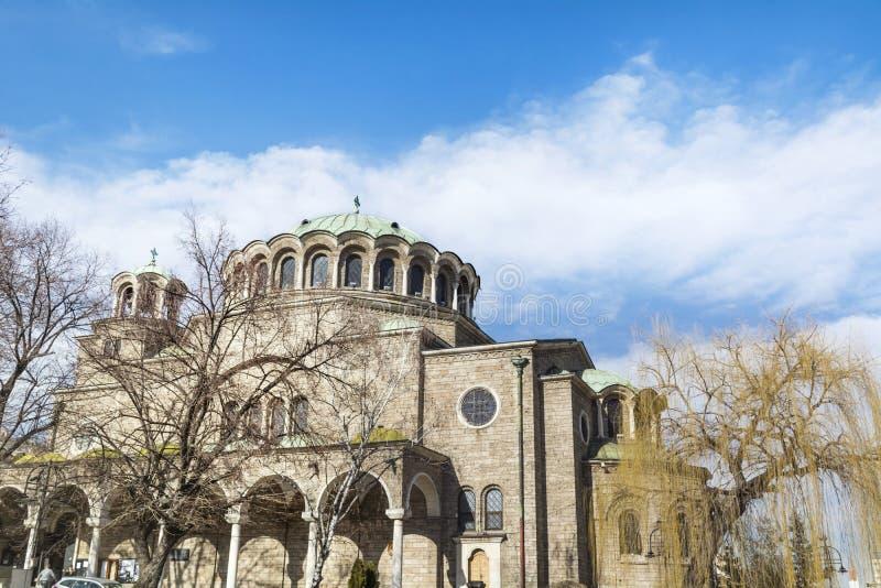 Kyrka för St Nedelya i Sofia arkivbild