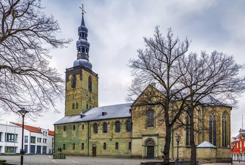 Kyrka för St Peter ` s, Soest, Tyskland arkivbilder