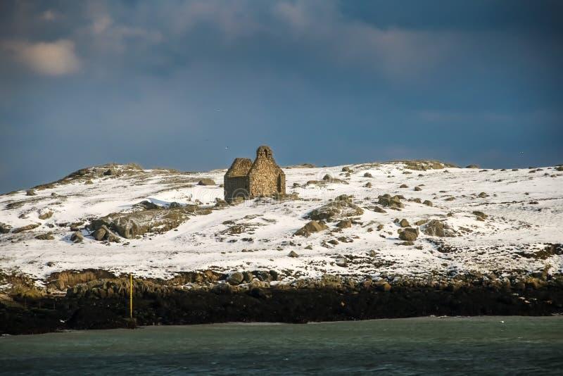 kyrka fördärvad sten Dalkey ö dublin ireland royaltyfria foton