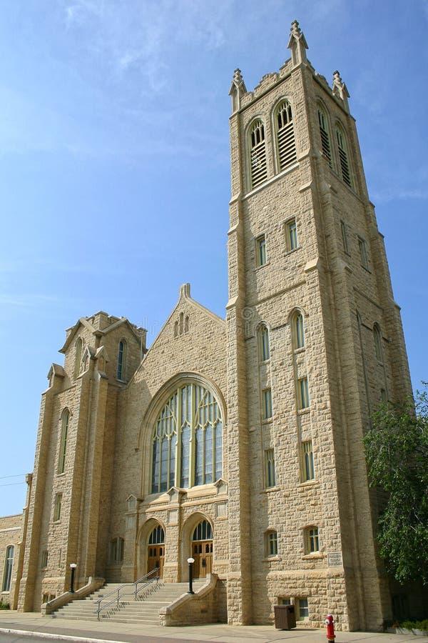 kyrka förenad gjord sten royaltyfria foton