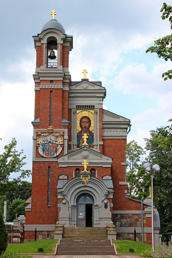 Kyrka-gravvalv prinsar Svyatopolk-Mirsky royaltyfria bilder