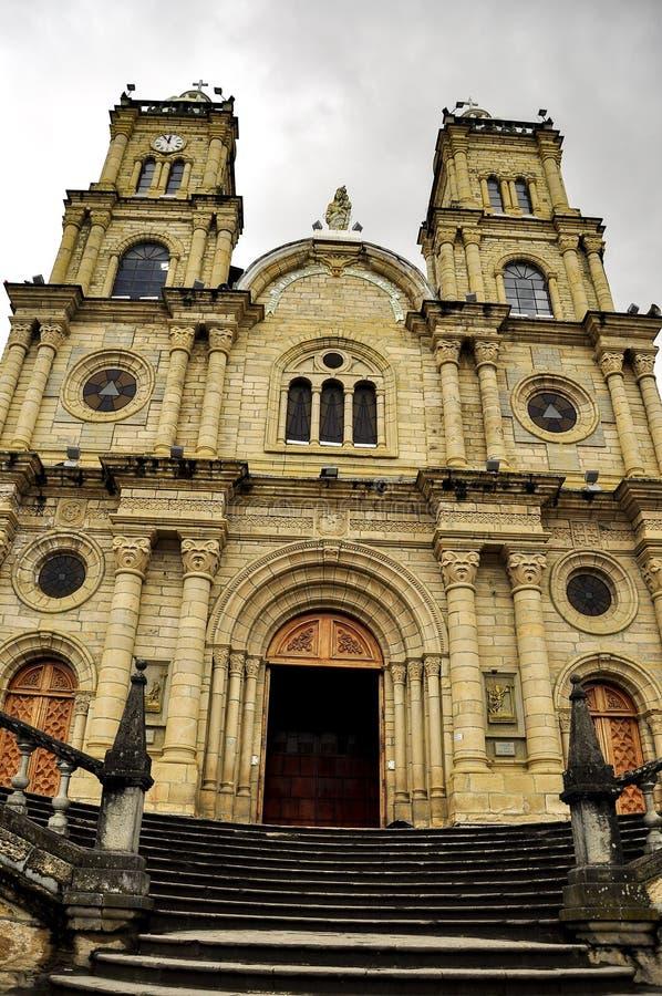 Kyrka i Azogues, Ecuador arkivfoton