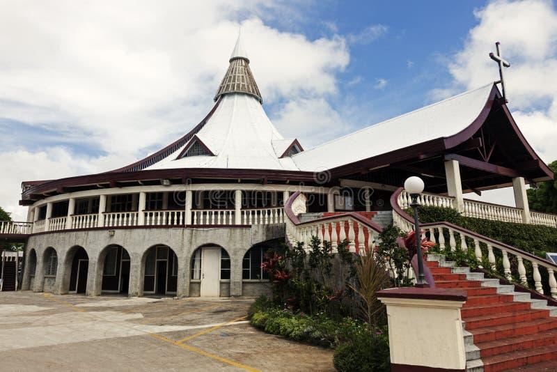 Kyrka i centrum av Nuku'Alofa royaltyfria foton