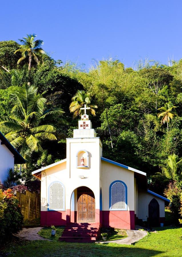 kyrka i den Maracas fjärden, Trinidad royaltyfri fotografi