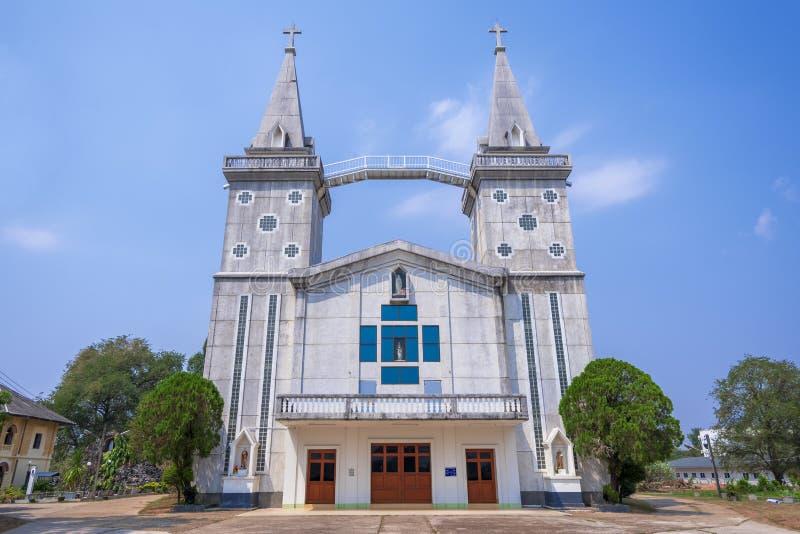 Kyrka i det Nakhon Phanom landskapet royaltyfri fotografi