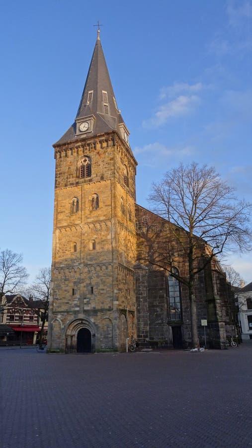 Kyrka i Enschede, Nederländerna royaltyfri bild