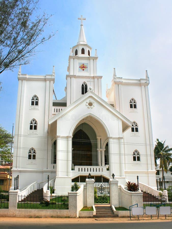 Kyrka i Ernakulam, Cochin, Kerala, Indien arkivfoton