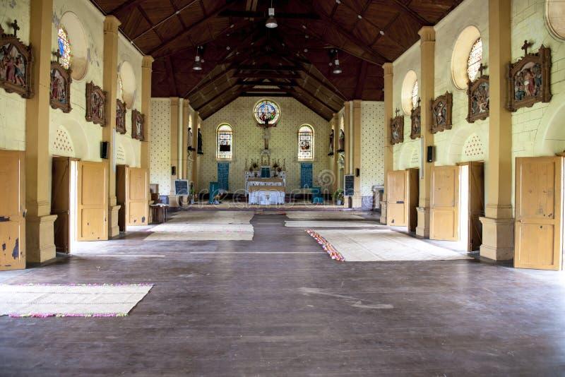 Kyrka i Fiji royaltyfria bilder