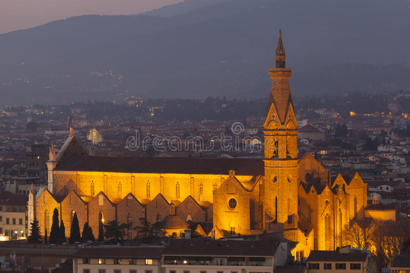 Kyrka i Florence royaltyfria bilder