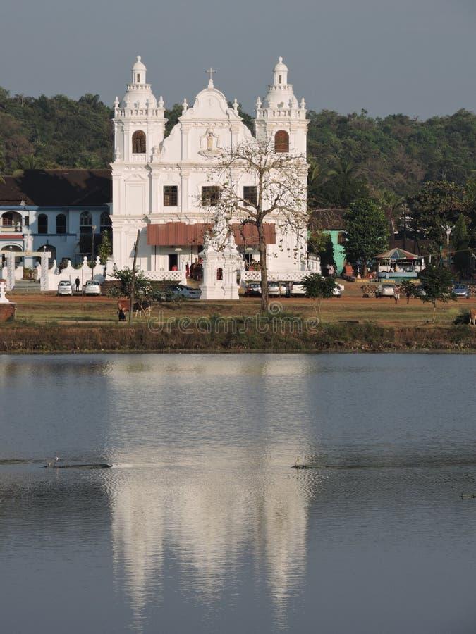 Kyrka i Goa arkivfoto