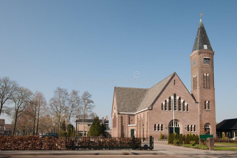 Kyrka i Holland royaltyfri bild