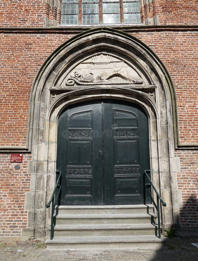 Kyrka i Hoorn i Nederländerna royaltyfri foto