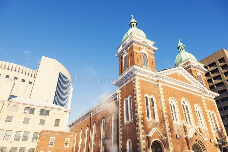 Kyrka i Kansas City, Missouri fotografering för bildbyråer