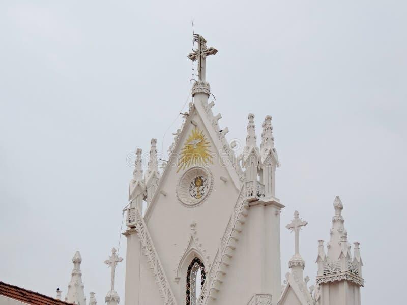 Kyrka i Kerala, Indien royaltyfri bild