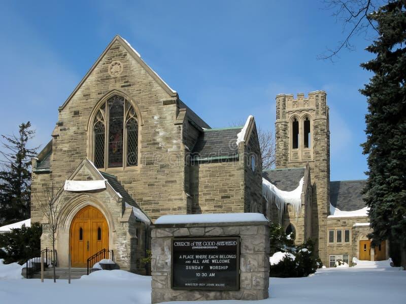 Kyrka i Kitchener, Kanada royaltyfria foton