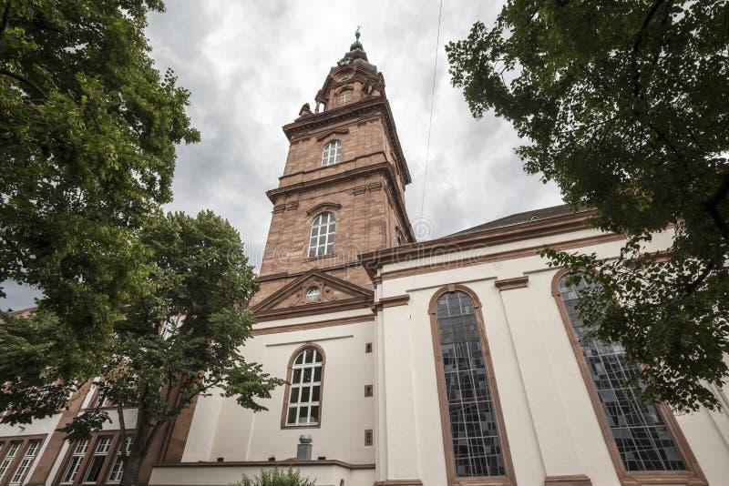 Kyrka i mannheim Tyskland royaltyfria foton
