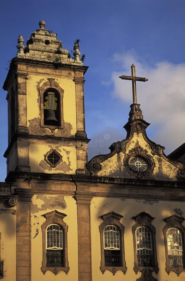 Kyrka i Pelourinho, Salvador, Brasilien royaltyfria bilder