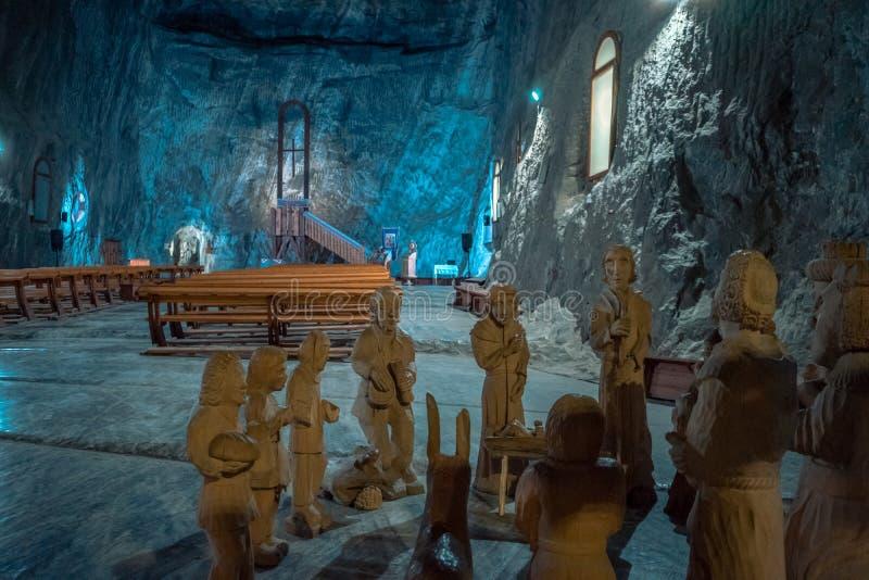 Kyrka i Praid den salta minen, Rumänien fotografering för bildbyråer
