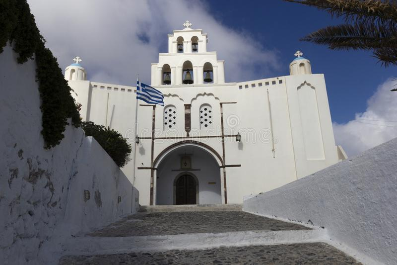 Kyrka i Pyrgos royaltyfri fotografi
