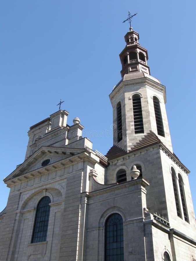 Kyrka i Quebec City royaltyfri foto