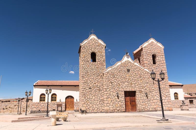 Kyrka i San Antonio de Los Cobres Argentina royaltyfri foto