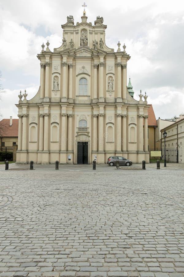 Kyrka i Warsaw royaltyfria bilder